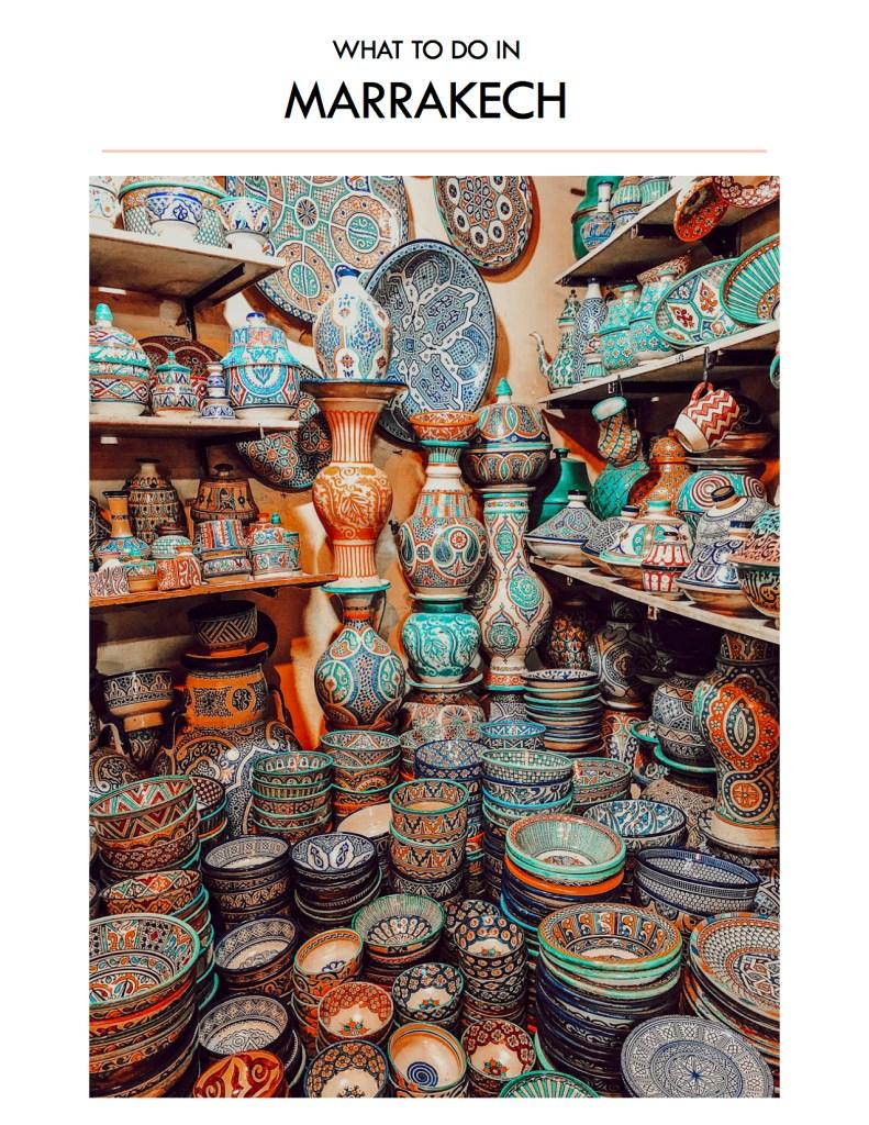 Blogger Mary Krosnjar Marrakech Travel Guide
