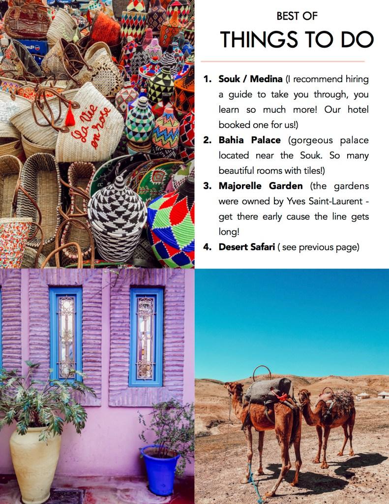 Blogger Mary Krosnjar sharing Marrakech Travel Guide