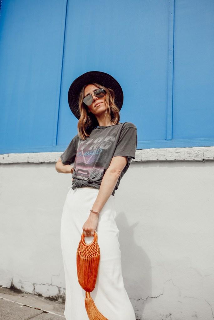 Seattle Fashion Blogger Sportsanista wearing Anine Bing BING BOLT TEE and Quay High Key Sunglasses