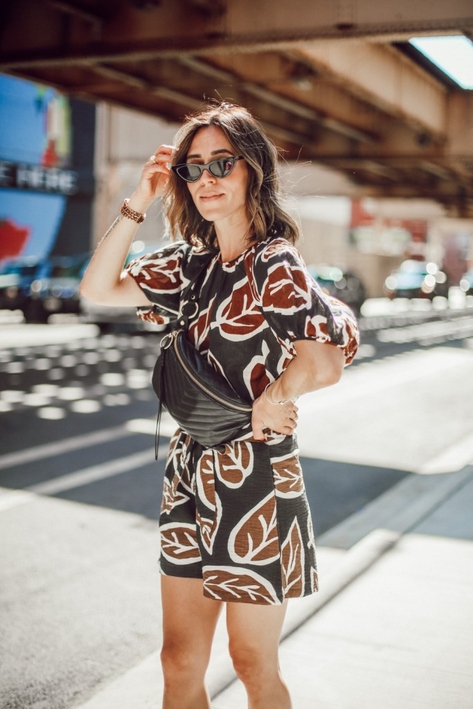 Blogger Sportsanista wearing Who What Wear Collection New Arrivals and Rebecca Minkoff quilted belt bag