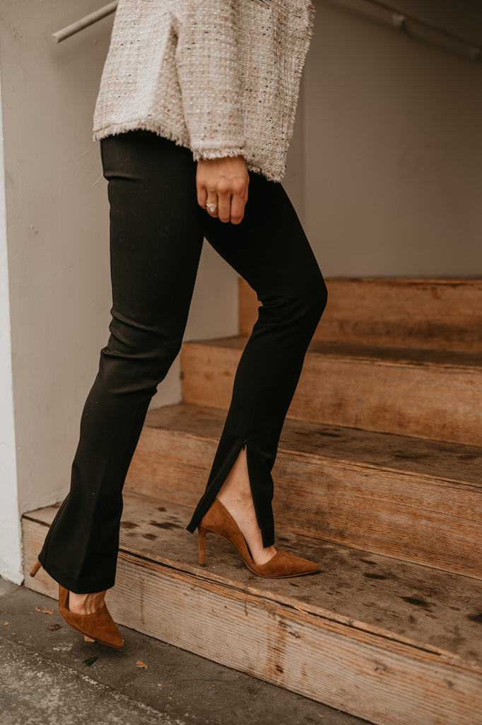 Seattle Fashion Blogger Sportsanista wearing Ann Taylor THE AUDREY PANT IN BI-STRETCH and Ann Taylor Azra Suede Pumps
