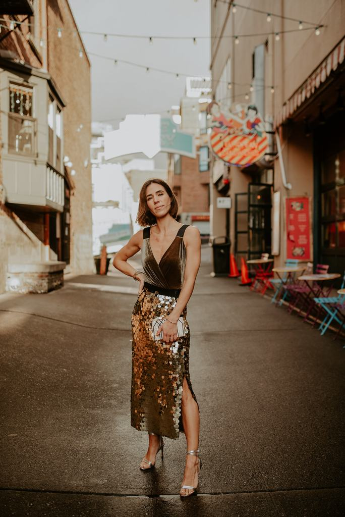 Amazon Fashion Outfit Inspiration, Holiday Outfit Ideas, The Perfect Sequin Skirt