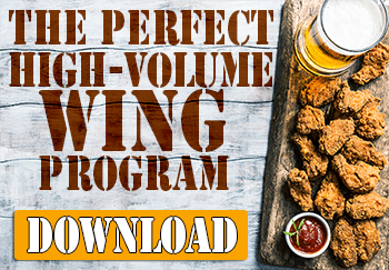 The sports bar chicken wing program