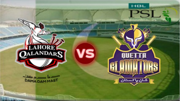PSL 2016 18th Match, Quetta Gladiators vs Lahore Qalandars