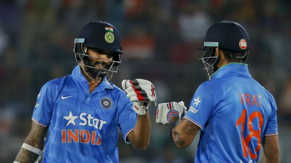 Shikhar Dhawan And Virat Kohli's Partnership