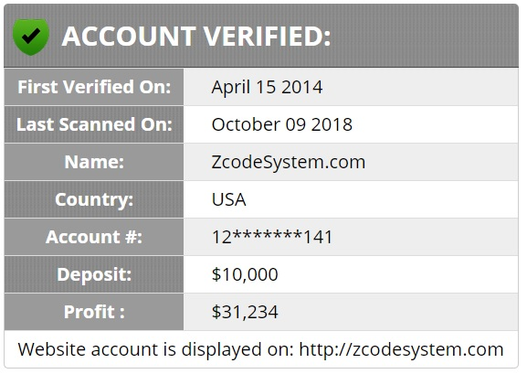 Zcode system verified by BetVerify