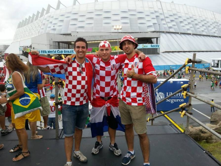 At the Brazil 2014 opening match with my brother and cousin.