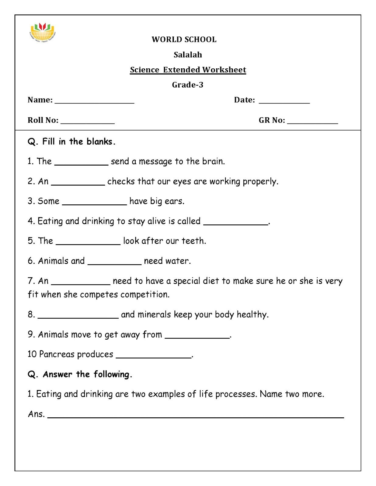 20 7th Grade Science Worksheets