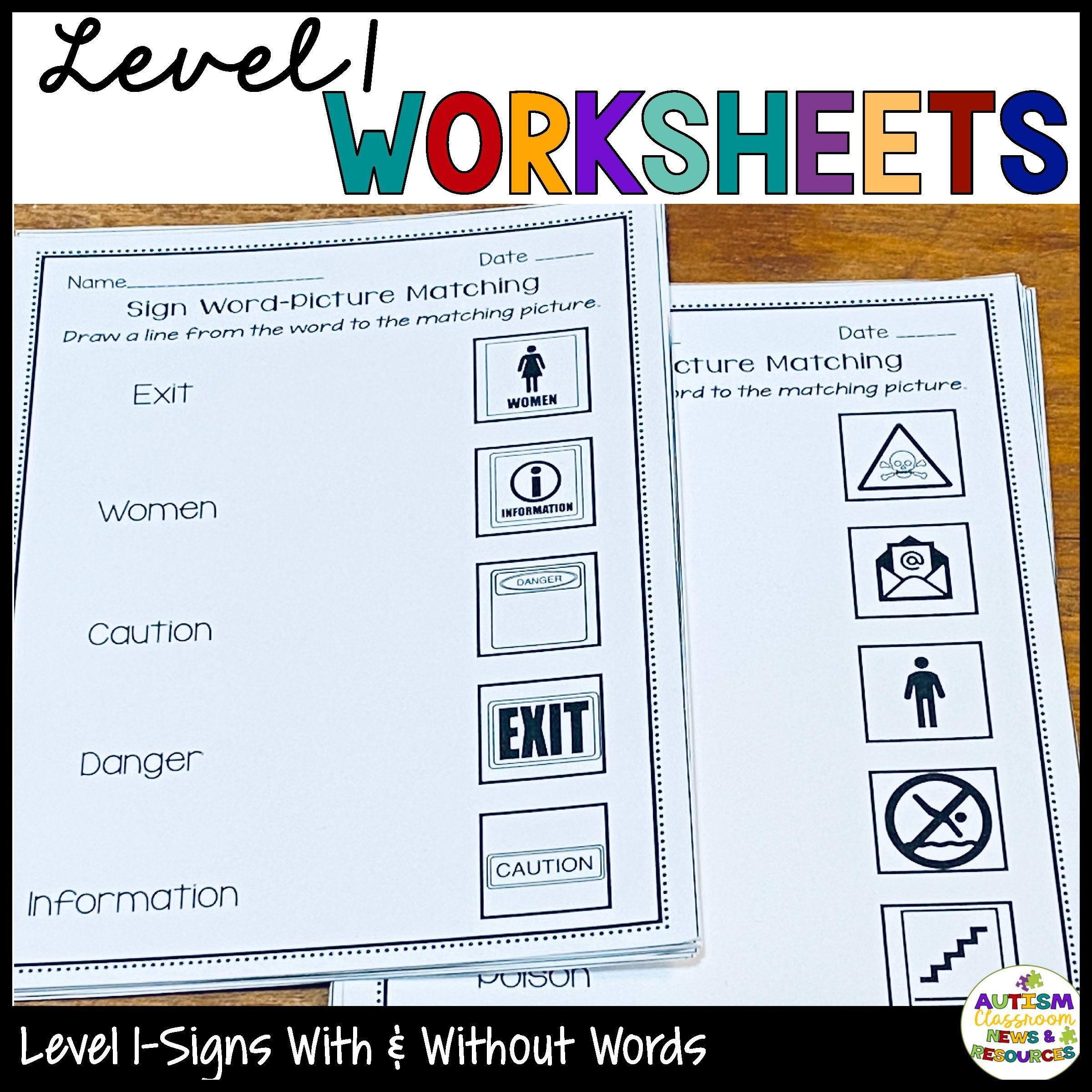 20 Community Signs Worksheets