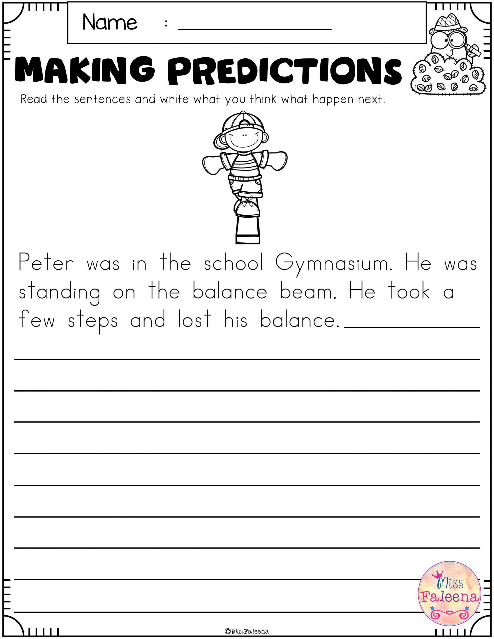 20 Predicting Outcomes Worksheets