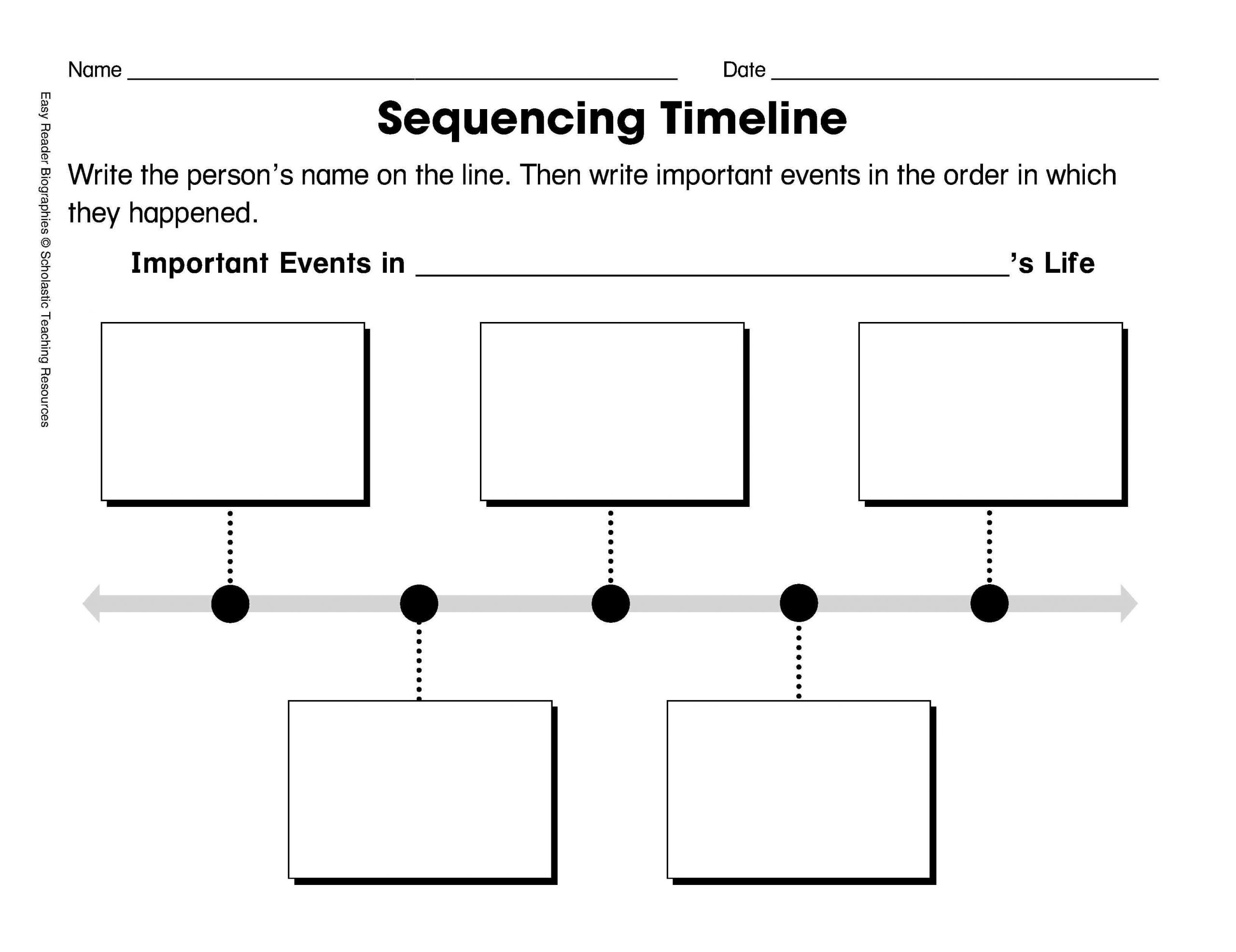 20 Sequence Of Events Worksheets