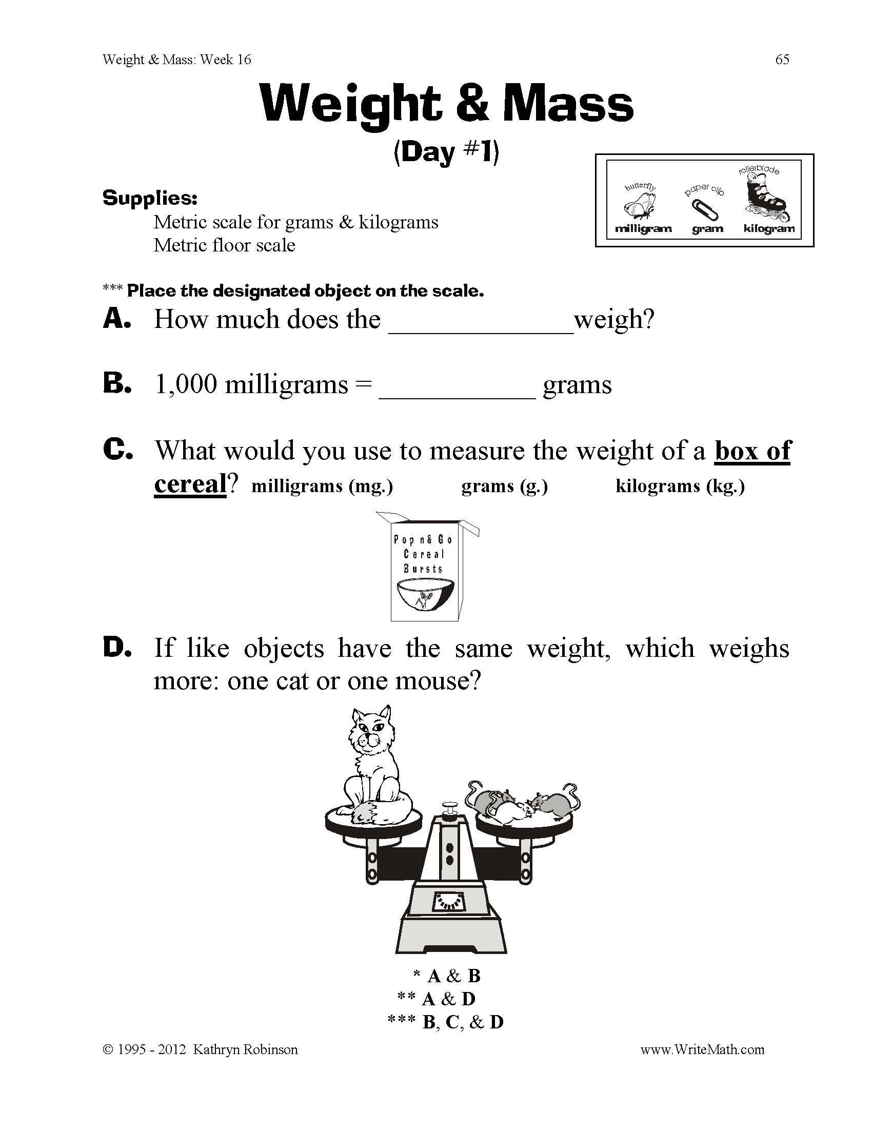 20 Volume Worksheets 3rd Grade