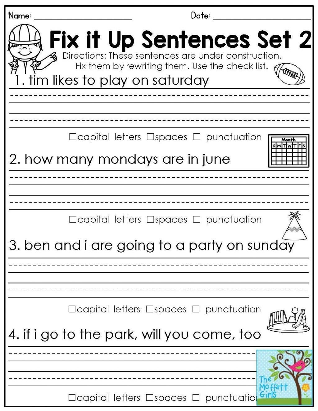 20 Third Grade Grammar Worksheets