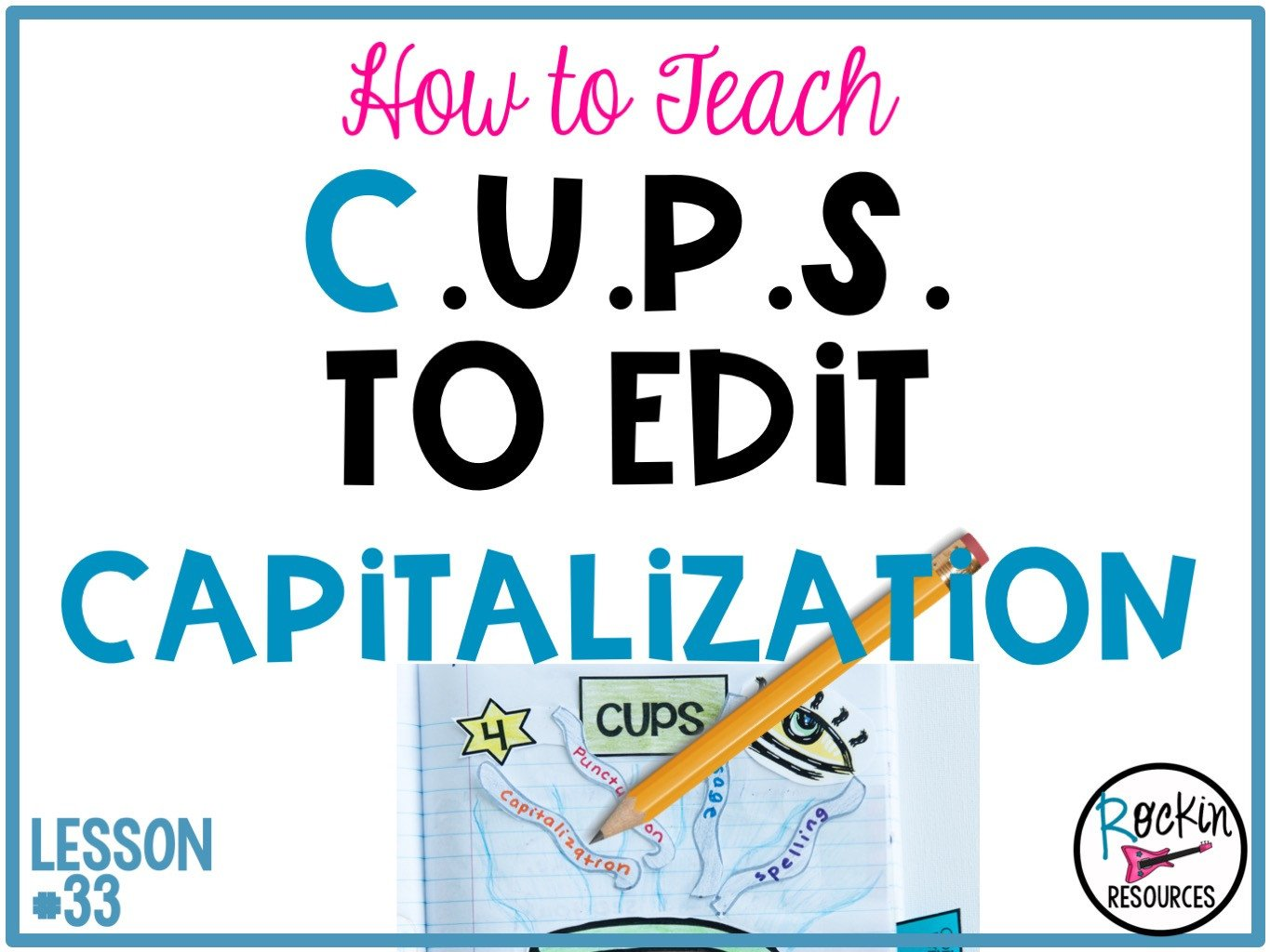 Capitalization Worksheet Middle School Mon And Proper