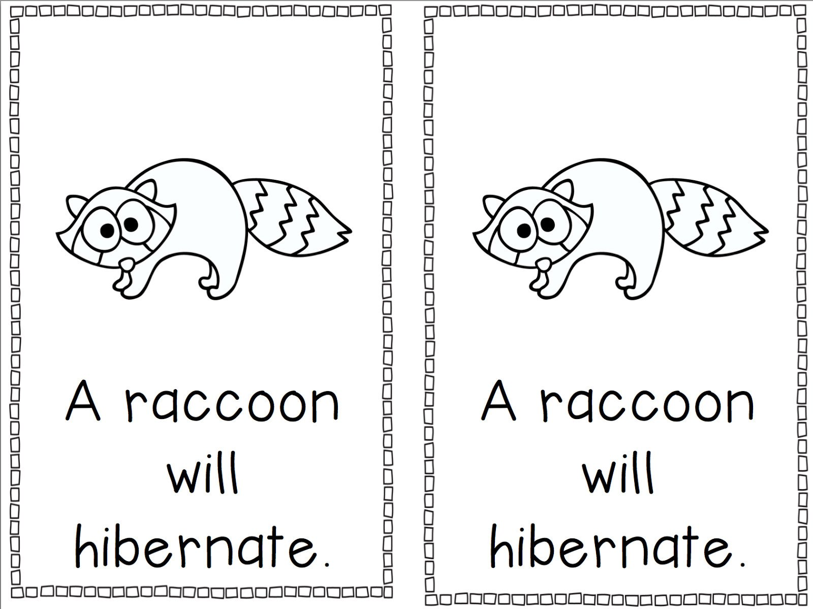 20 Animals That Hibernate Worksheet
