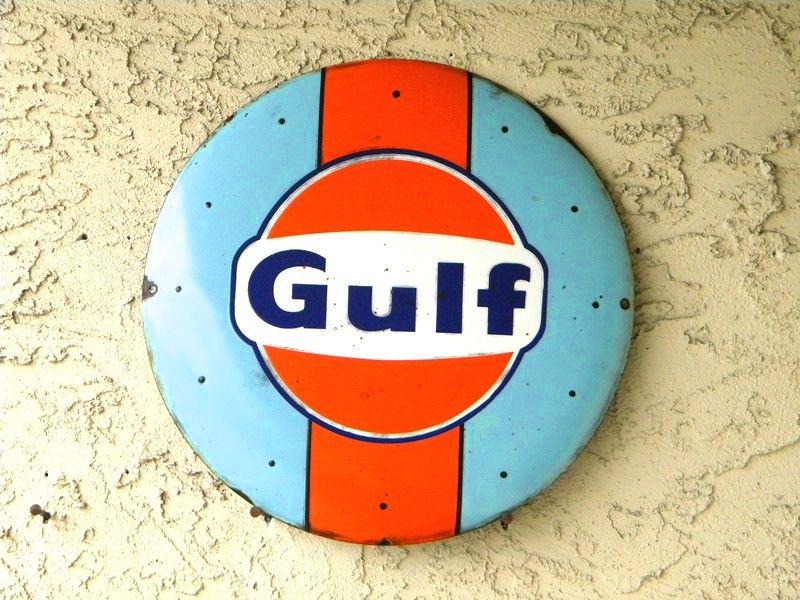 Gulf Oil Button