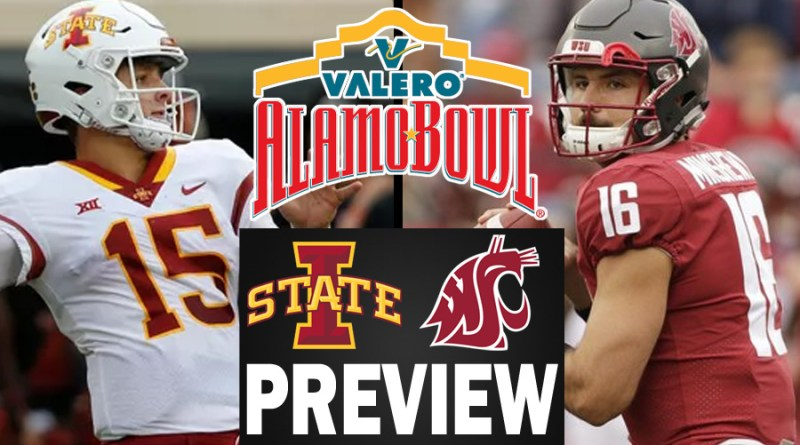best sneakers 1565f 66226 Iowa State vs Washington State (Alamo Bowl 12-28-18) Preview ...