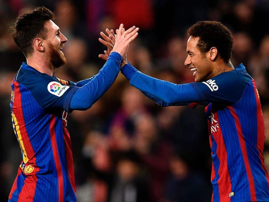 Messi and Neymar at Barcelona