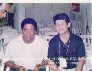 """Con Dr. Francisco """"Pacho"""" Maturana. Tecnico campeon de America y Copa Libertadores."""