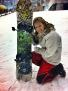 Chuffed with my cat snowboard!