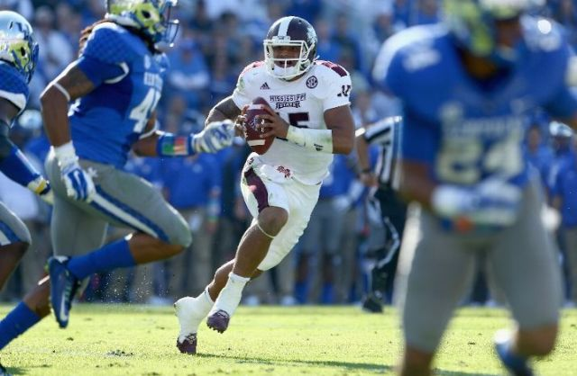 It wasn't easy, but Dak Prescott go the job done against Kentucky (Andy Lyons/Getty Images)