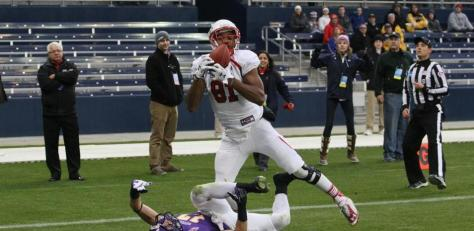 Paul Browning caught the only touchdown of the game (GoThunderwolves.com)