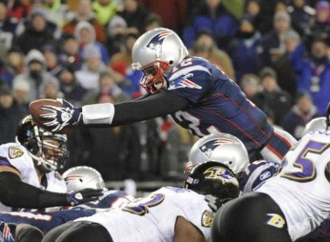 Tom Brady and the Patriots face the Ravens in the playoffs for the fourth time (Robert Deutsch / USA TODAY)