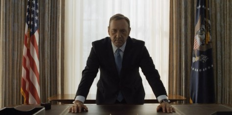 Frank Underwood at the end of season 2 behind the President's desk (Netflix/House of Cards)