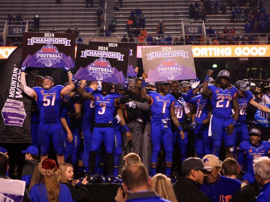 Boise State won the 2014 Mountain West Championship on its home field (Brian Losness/USA TODAY Sports)