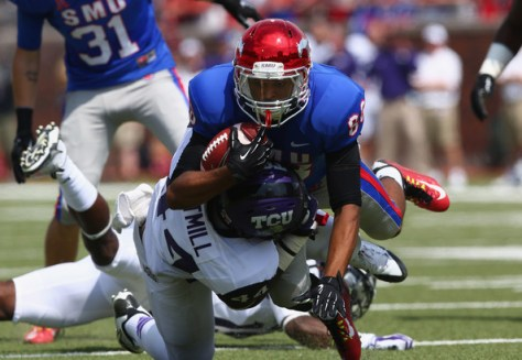 SMU wide receiver Daijuan Stewart has been suspended (Ronald Martinez/Getty Images North America)