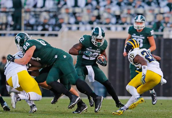 Delton Williams against Michigan in 2014 (Leon Halip/Getty Images North America)