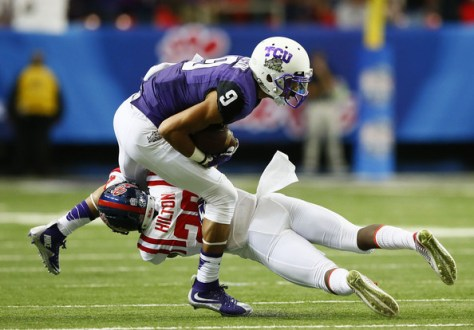 Josh Doctson against Ole Miss in the Peach Bowl (Kevin C. Cox/Getty Images North America)