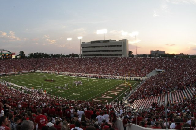 War Memorial Stadium, home of the Arkansas Razorbacks, could be the site of a new bowl in 2015 (wmstadium.com)