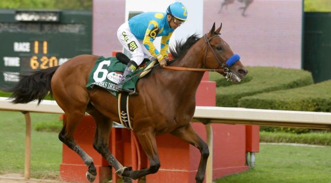 American Pharoah Waltzes Home In Arkansas Derby