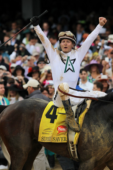 Calvin Borel after the 2010 Kentucky Derby, which he won aboard Super Saver (Jamie Squire/Getty Images North America)