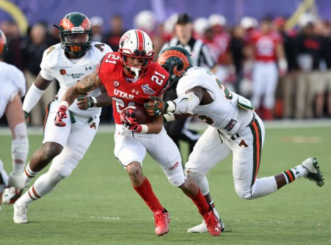 Utah running back Troy McCormick against Colorado State in 2014 (Ethan Miller/Getty Images North America)