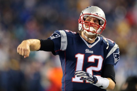 Tom Brady prior to the 2015 AFC Championship Game against Indianapolis. He is the center of the DeflateGate controversy (Jim Rogash/Getty Images North America)