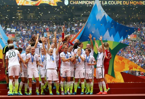 The artificial turf did not stop the US Women's National Team from winning the 2015 Women's World Cup. ( Ronald Martinez/Getty Images North America)