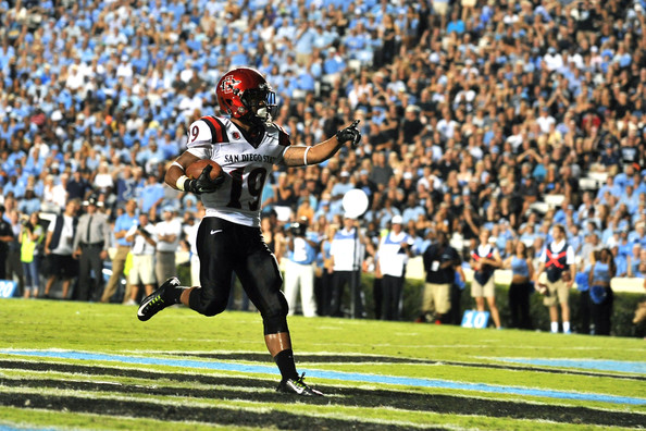 Donnel Pumphrey is poised to have another monster year in 2015. Will it be enough to lead San Diego State to the Mountain West Title Game? (Lance King/Getty Images North America)