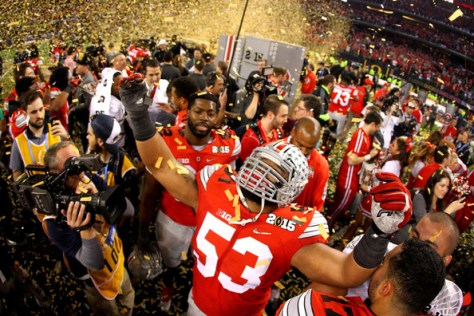 Ohio State won the 2015 College Football Playoff Championship. Can they do it again in 2015? (Jamie Squire/Getty Images North America)