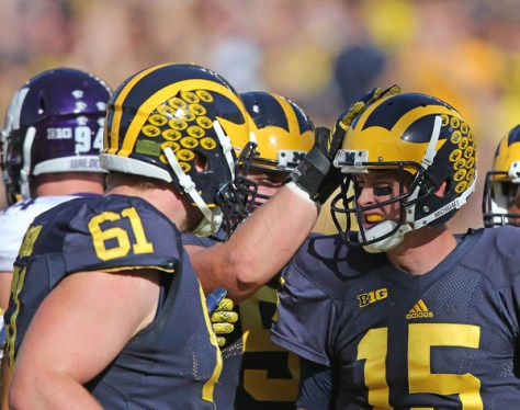 Michigan continues to trend up in the Big Ten with their third straight shut out. (Leon Halip/Getty Images North America)