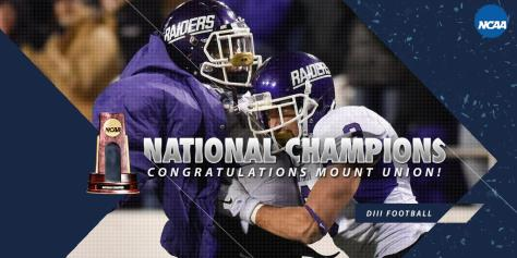 Mount Union Captured their 12 National Championship on Friday Night with a 49-35 win in the Stagg Bowl over St. Thomas (NCAA.com Photo)