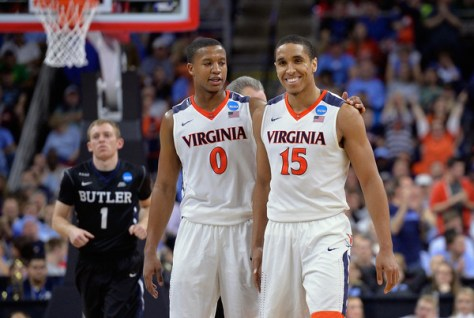 The 2016 NCAA Tournament's Sweet 16 Round features some heavy hitter like Virginia, Kansas, Duke, and North Carolina. (Grant Halverson/Getty Images North America)