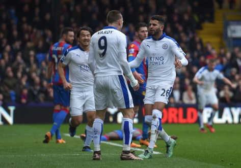 Leicester City are five points clear with seven games to play in the Premier League ( Michael Regan/Getty Images Europe)