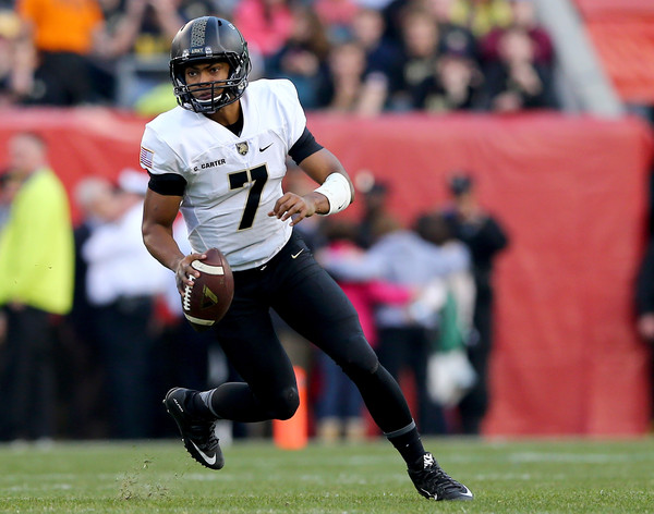 Army QB Chris Carter. Navy has defeated Army 14 straight years, but will 2016 be the year Army ends that streak? (Elsa/Getty Images North America)