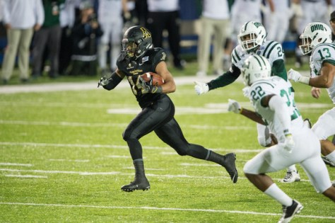 Marcus Cox leads a powerful Appalachian State offense. How are the Mountaineers predicted to do in 2016? (Michael Chang/Getty Images North America)