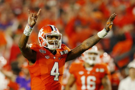 Deshaun Watson and Clemson came up just short against Alabama in the National Championship during the 2015 season. (Kevin C. Cox/Getty Images North America)