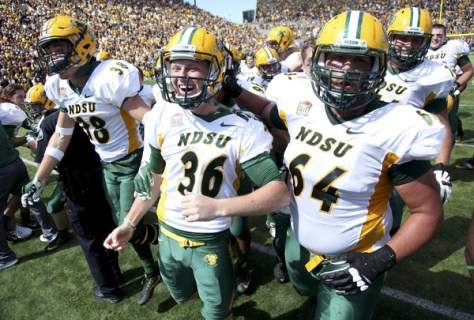 North Dakota State defeated #13 Iowa 23-21 on Saturday, September 17, 2016 for their sixth straight victory over an FBS opponent. (Matthew Holst/Getty Images North America)