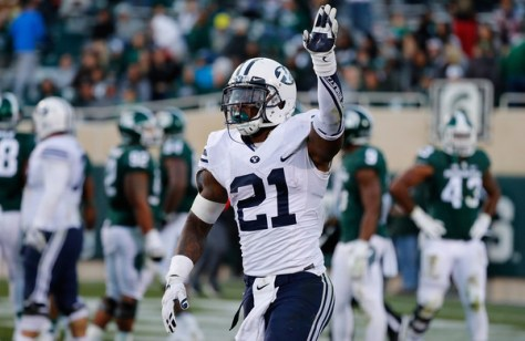 Jamaal Williams had another big game against Michigan State. He and BYU face Mississippi State at home on Friday night. (Leon Halip/Getty Images North America)