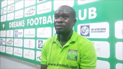 C K Akunnor facing the axe at Dreams FC as recent poor run puts his future in the balance